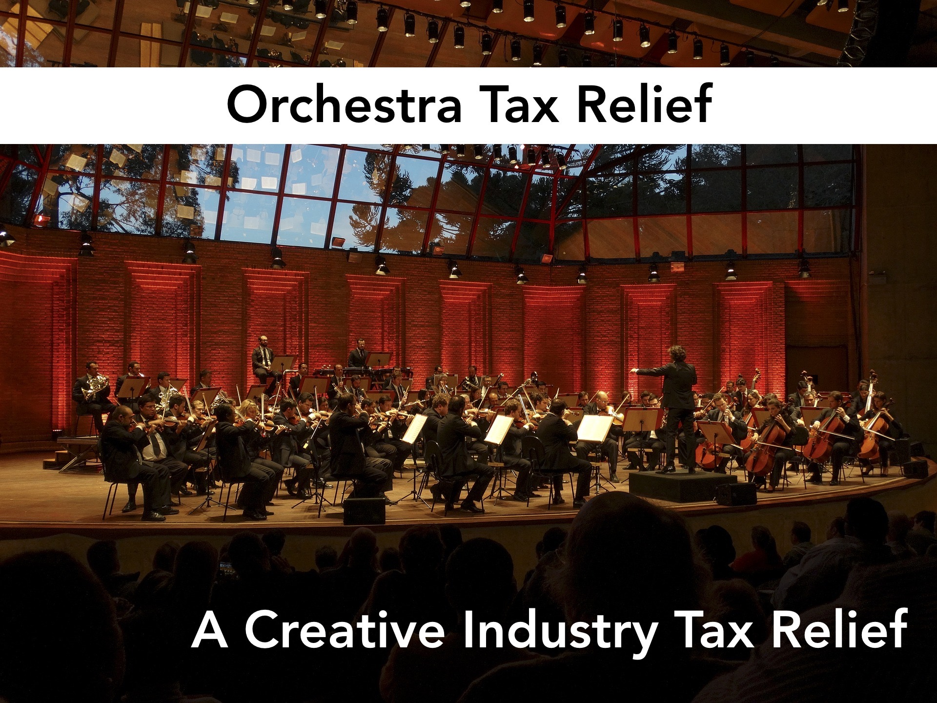 orchestra tax relief